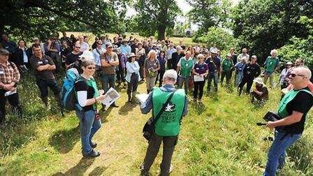 Tree experts and enthusiasts tour the Aspal Close Nature Reserve, Beck Row, as part of a conference