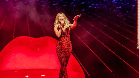 Kylie Minogue at Newmarket nights. Picture: Jen O'Neill