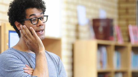 Actor, director and comedian Richard Ayoade returns to St Joseph's College to do a workshop with pup