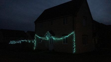 The Christmas light display at Long Meadow Drive in Diss before vandals struck. Picture: Rachel Bryc