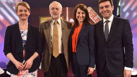 Labour leadership contestants (left - right) Yvette Cooper, Jeremy Corbyn, Liz Kendall and Andy Burn
