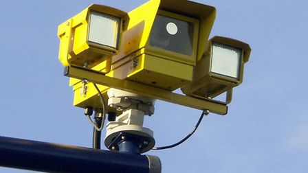 Average speed camera system installed. Photo: PA Wire