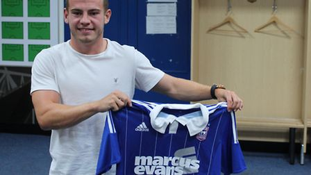 Ryan Fraser signs for Ipswich Town. Photo: ITFC