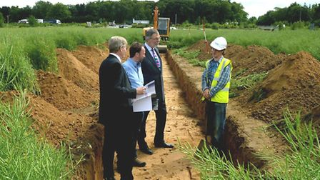 An archaeological dig on the site of the planned Eastern Relief Road at Moreton Hall in Bury St Edmu