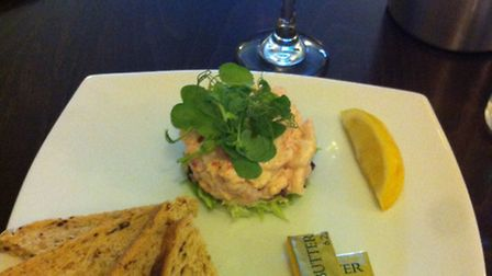 Prawn and Crayfish cocktail. The King's Head, Hadleigh