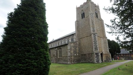 St Mary's Church in Bacton.