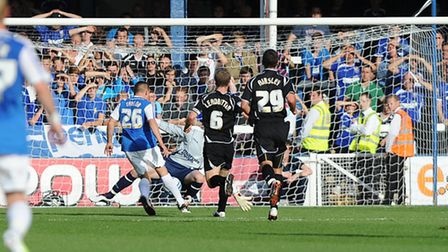 Ipswich were thumped 7-1 by Peterborough in August 2011.
