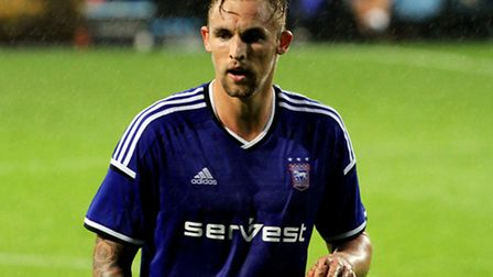 Jack Collison, now with Peterborough, in action for Ipswich