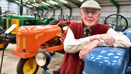 Paul Rackham, whose huge collection of vintage tractors is to be auctioned off.