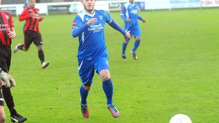 Billy Clark in action for former club Bury Town