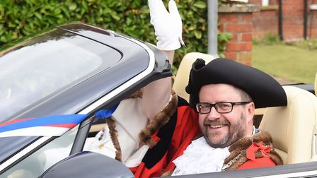 Diss Mayor Trevor Wenman who has annonced he will step down at the end of his current term in office