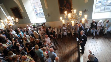 The launch of the fundraising campaign for the Guildhall Heritage Centre in Bury. Mike Jackson (proj