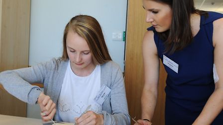 Medical careers day at The ICENI Centre at Colchester Hospital Victoria Perkins foundation year 2 d