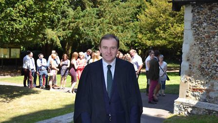 Farm Minister George Eustice at Writtle College's further education presentation day