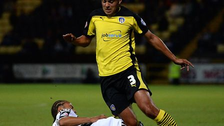 Ben Gordon, in action at Notts County, has today left Colchester United