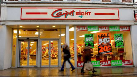 Carpetright took over the former Woolworths in Diss on Mere Street after it closed 10 years ago. The