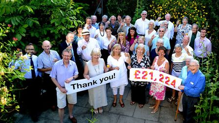 Organisers and hosts of the annual Hidden Gardens charity event in Bury St Edmunds celebrate raising