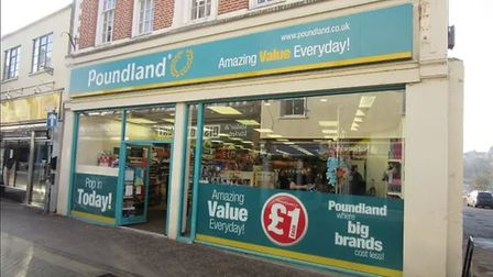 Poundland in Diss in the building that was Woolworths until the high street favourite closed 10 year