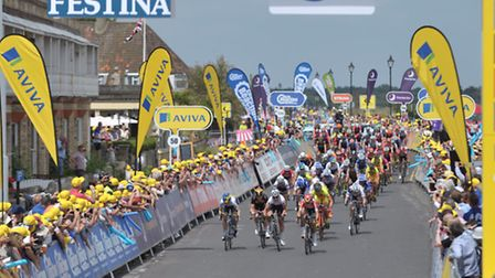 The Women's Tour finishes stage one in Aldeburgh