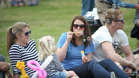 Everyone had a dance in the sunshine at Clopton fete