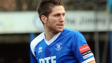 Leiston's John Sands, in action for Bury Town