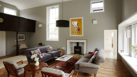 The Chapel Rooms, Gislingham living room with balcony