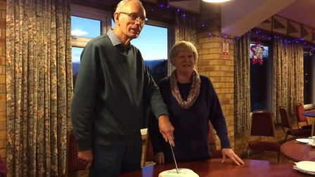 David Holland and his wife at their going away party. PHOTO; Sophie Smith