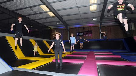 The launch of Jump Street in Colchester, the first dedicated trampoline park. Colchester Mayor, Ther