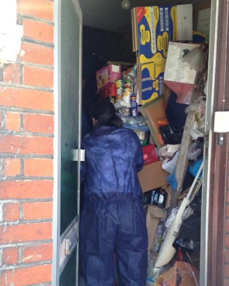 The home in Clacton where four cats were rescued.