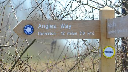 Angles Way runs across South Norfolk to Thetford with many sections suitable for shorter strolls. Pi