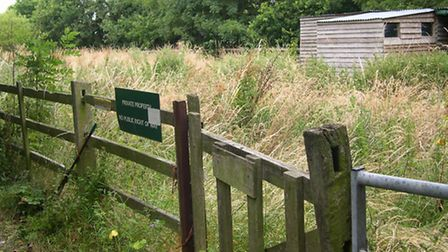 The site opposite Treetops at Felixstowe which was controversially earmarked for a travellers' site