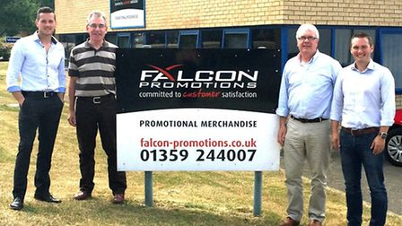 Falcon Promotions founders Paul Peachey and Les Wright with Matt Franks and Miles Lovegrove of Fluid