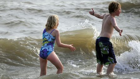 Making the most of the summer holidays on the seafront at Felixstowe