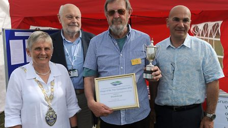 Grundisburgh are the Suffolk Coastal village of the year winners. L-R: Susan Harvey (chair of Suffol
