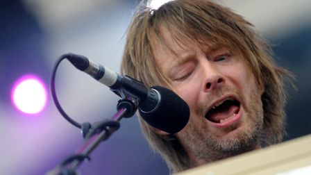 Thom Yorke on the Obelisk Stage at the Latitude Festival in 2009. Photo: Simon Parker