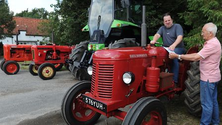 Organisers of the Mid Suffolk Tractor Road Run Donald Sapsford and Martyn reeve ( left)