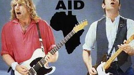 Status Quo's Rick Parfitt and Francis Rossi open Live Aid