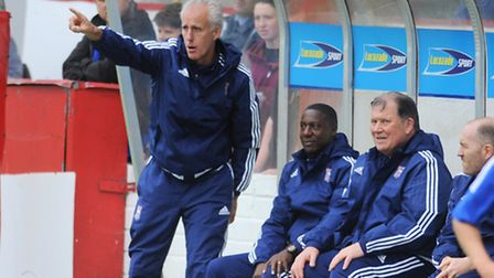 Ipswich Town boss Mick McCarthy, pictured during his side's 6-0 win at Shelbourne. Photo: Gregg Brow