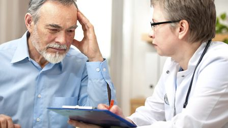 Doctor and patient. Library image.