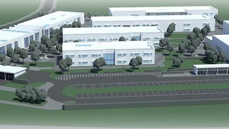 A visualisation of the new high school at Moreton Hall.