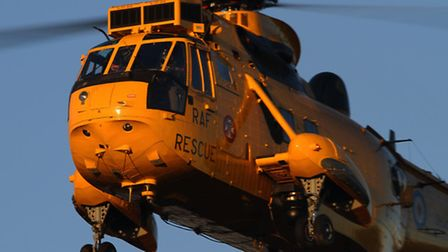 A RAF Search and Rescue Sea King