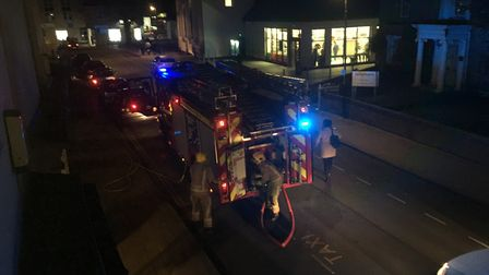 Fire fighters were called to Myhill's Pet and Garden shop in Diss on Monday evening. PHOTO: Sophie S