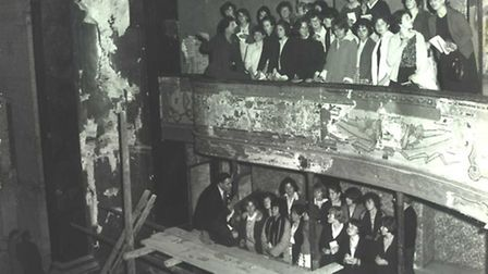Touring the theatre during the restoration in the 1960s