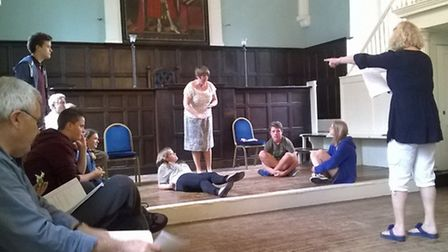 Rehearsals for Bury Theatre Royal's anniversary musical Labour of Love, directed by Karen Simpson