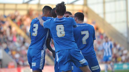 Action from Colchester United's pre-season victory over West Ham United.