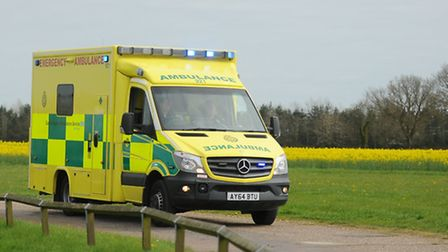 Ambulance called to a crash in Essex.