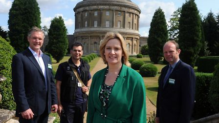 The Secretary of State for Energy and Climate Change, Rt Hon Amber Rudd MP is at Ickworth Park in Ho