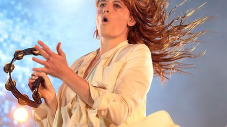 Florence Welch of the band Florence + the Machine performing at this year's Glastonbury Festival. Ro