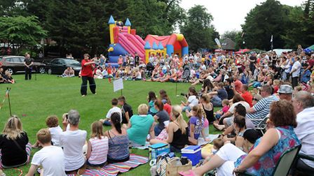 The 2014 Party in the Park event in Belle Vue Park in Sudbury.