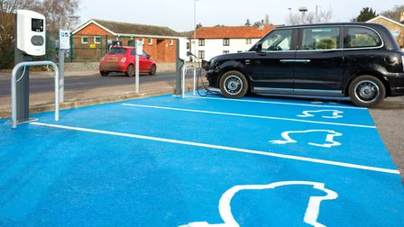 Electric vehicle charging stations have been switched on in Wymondham and Long Stratton and are comi